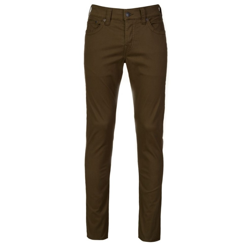 True Religion Olive Rocco Skinny Jeans