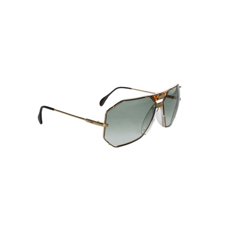 Cazal Gold Octagonal Aviator Sunglasses
