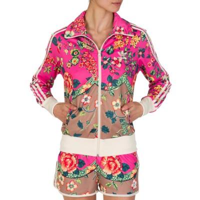 Adidas Pink Floral Print Jacket