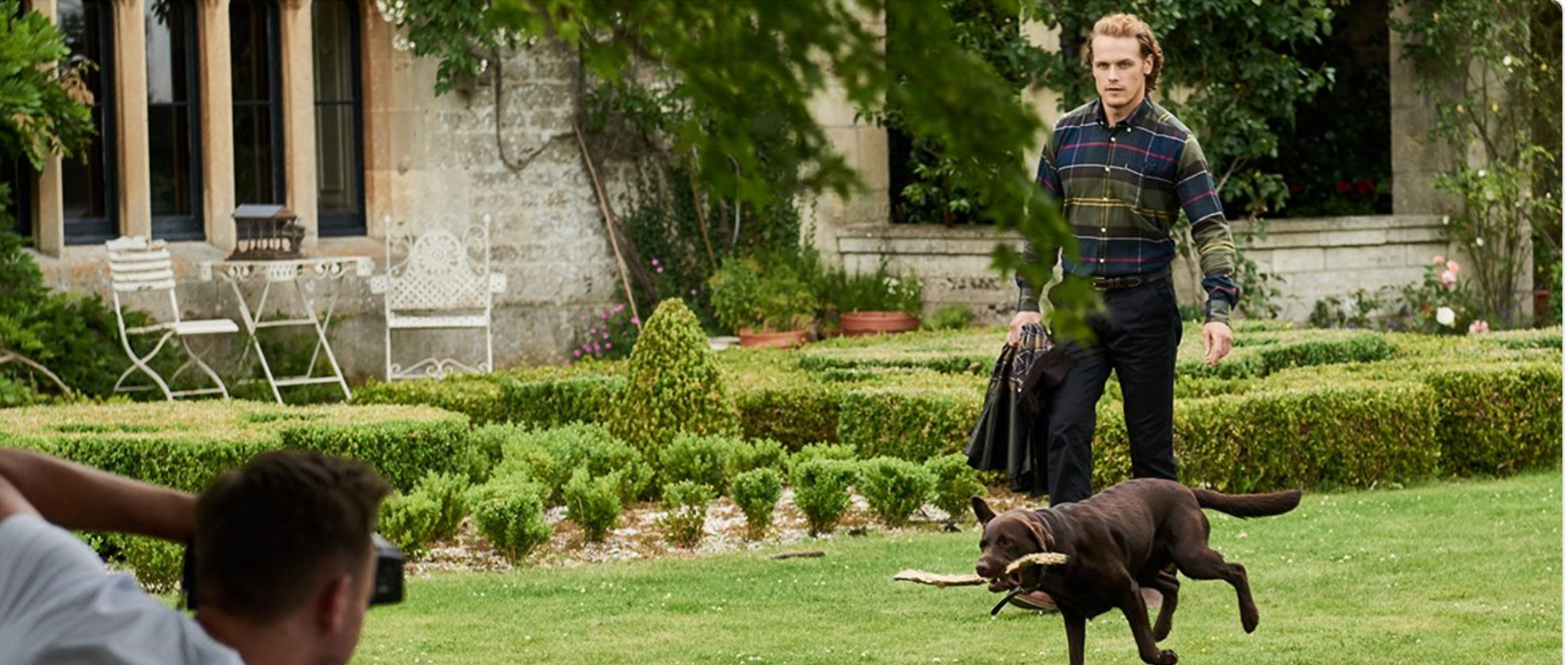 Outlander Star Unveiled as Barbour's First Global Brand Ambassador