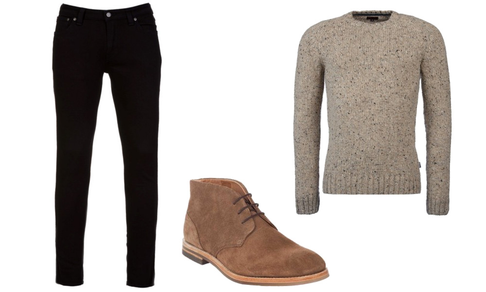 Wear Chukka boots with jeans