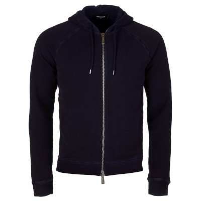 DSquared2 Navy Zip Up Hoodie