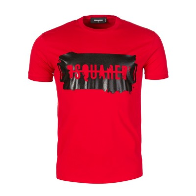 DSquared2 Red Logo Graphic T-Shirt