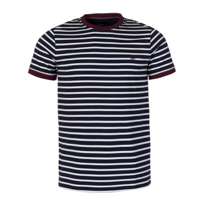 Fred Perry Navy Stripe T-Shirt