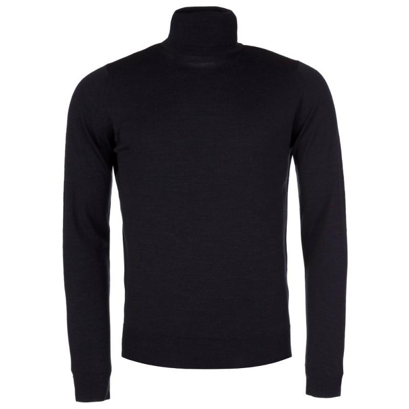 John Smedley Charcoal Belvoir Roll Neck Pullover