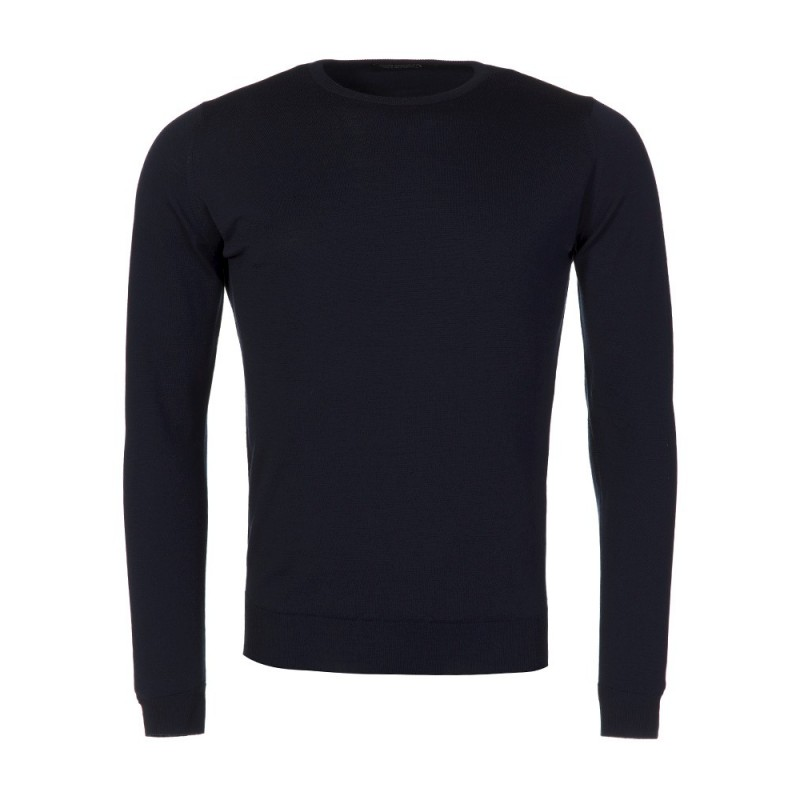 John Smedley Navy Cleeves Pullover