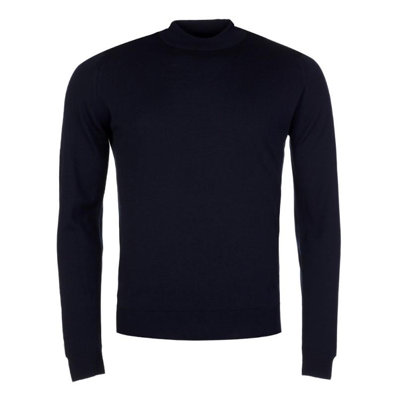 John Smedley Navy Harcourt Turtleneck Pullover