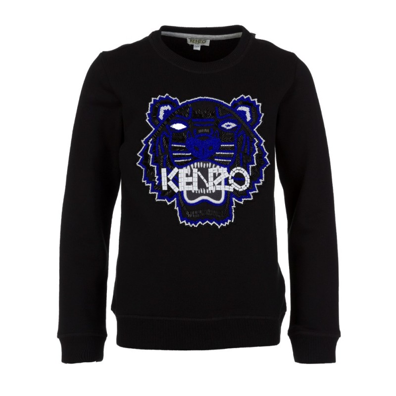 Kenzo Kids Black Beaded Tiger Sweatshirt