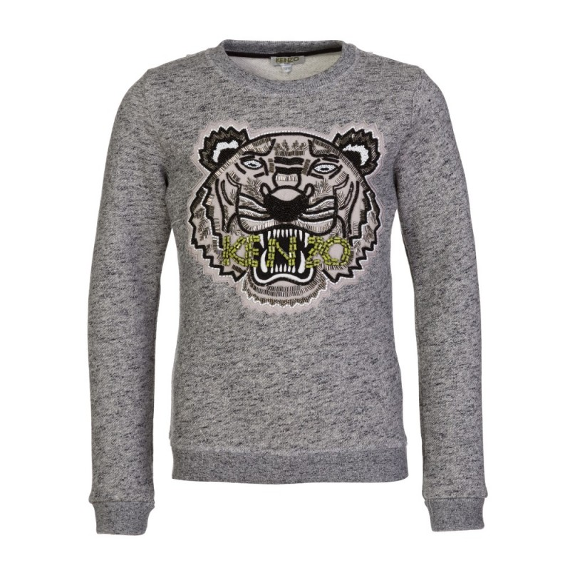 Kenzo Kids Grey Marl Beaded Sweatshirt