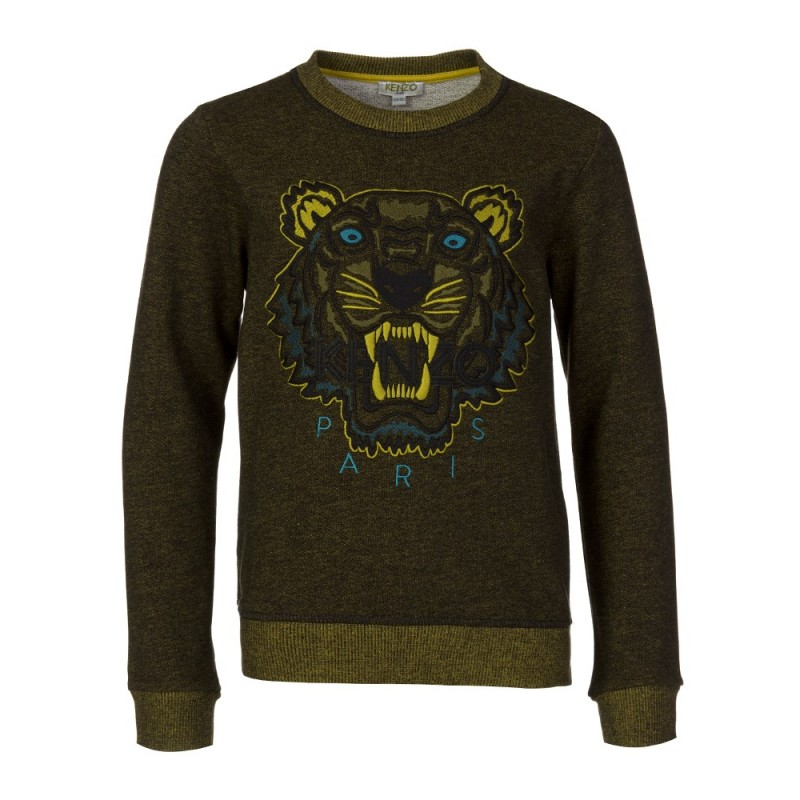 Kenzo Kids Jungle Green Tiger Sweatshirt