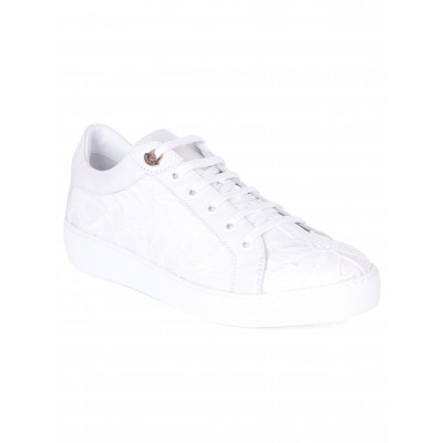 Moncler White Patterned Leni Trainer