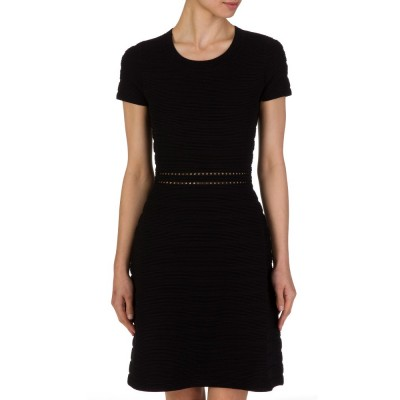 Michael Kors Black Ribbed Dress