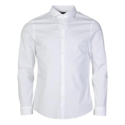Michael Kors White Slim Fit Shirt