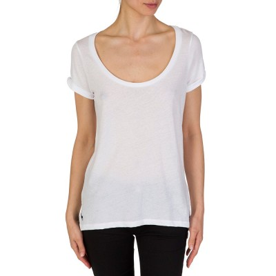 Polo Ralph Lauren White Scoop Neck T-Shirt