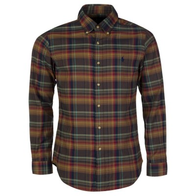 Polo Ralph Lauren Brown Check Slim Fit Shirt