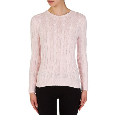 Polo Ralph Lauren Pink Cable Knit Jumper