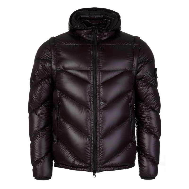 Stone Island Black Detatchable Hood Puff Jacket