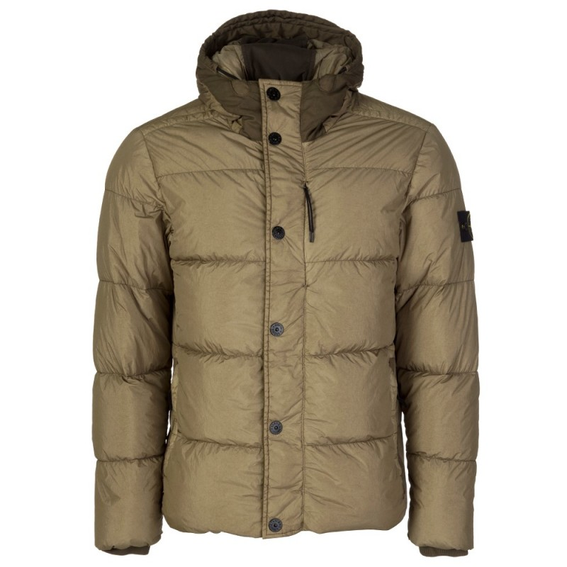 Stone Island Green Hooded Coat