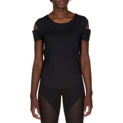 Varley Black Cut Out T-Shirt