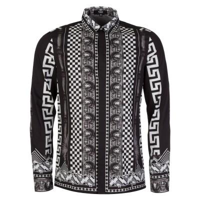Versus Versace Black Lion Print Shirt