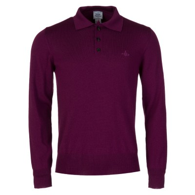 Vivienne Westwood Purple Knitted Polo Shirt