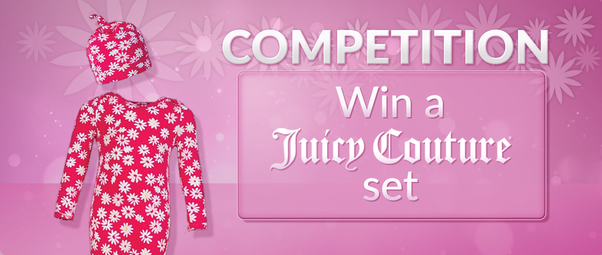 Win this Gorgeous Juicy Couture Onesie Set!