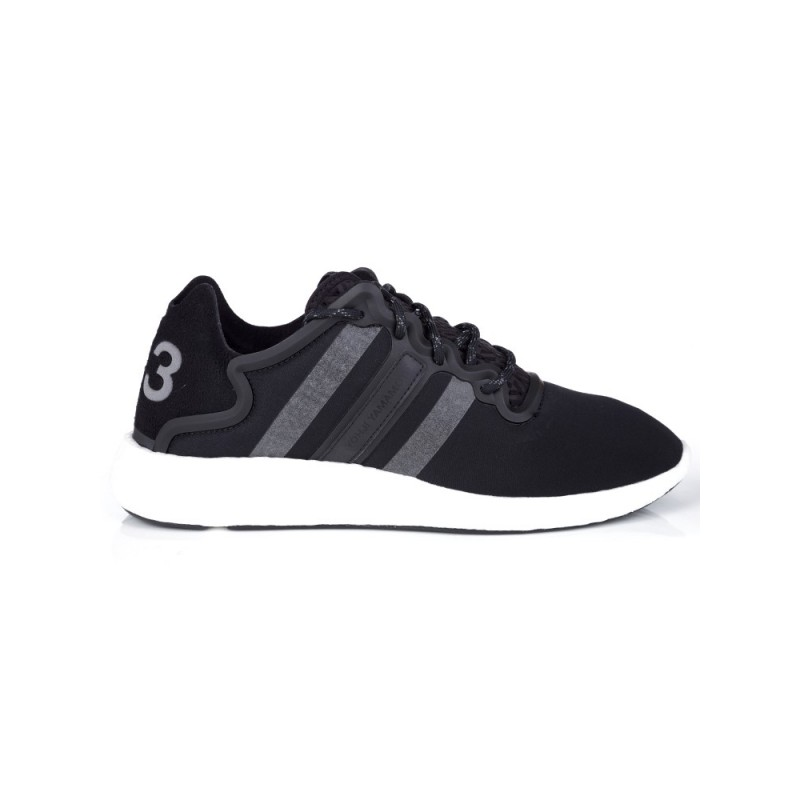 Y-3 BLACK YOHJI RUN TRAINER