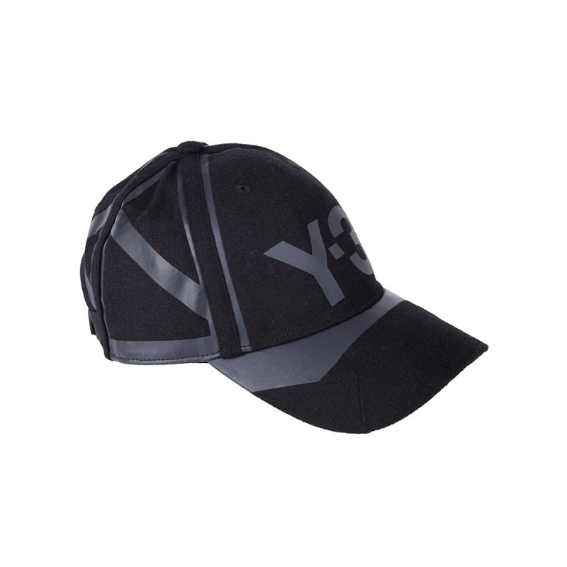 Y-3 BLACK LOGO WOOL CAP