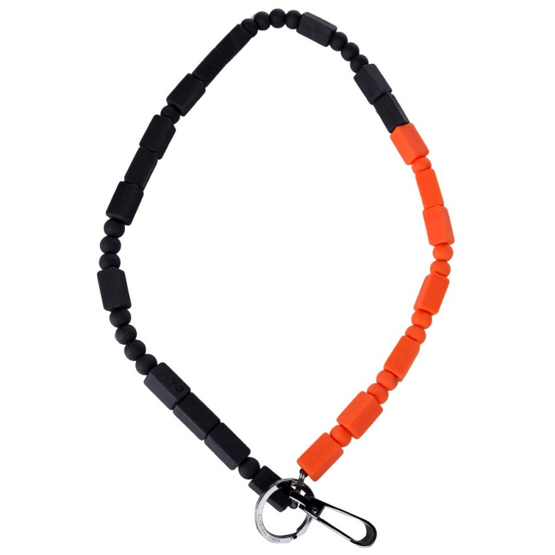 Y-3 BLACK & ORANGE CONTRASTING LANYARD