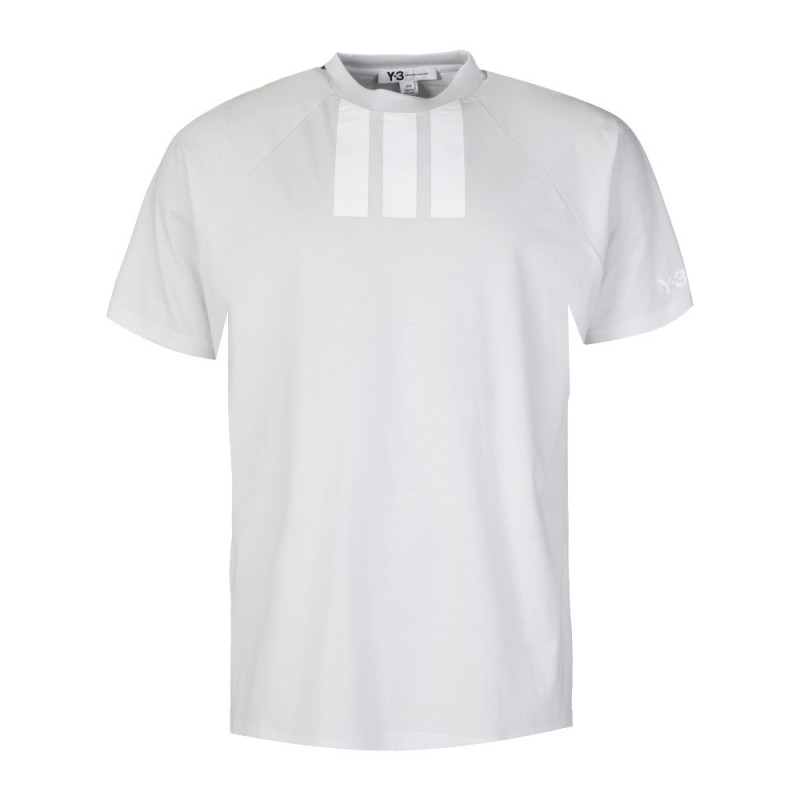 Y-3 WHITE LONG STRIPE T-SHIRT