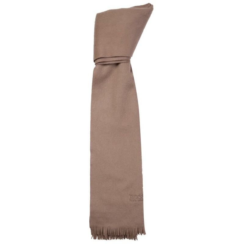 Boss by Hugo Boss Beige Cashmere Tassel Scarf