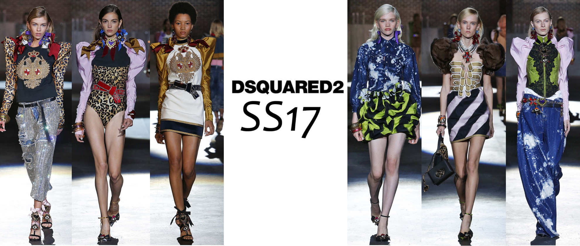 DSquared2's 80s Inspired Women's SS17 Collection