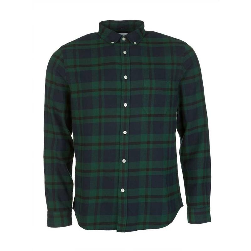 Edwin Navy Check Shirt