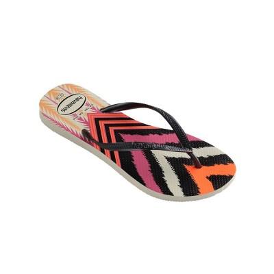 Havaianas Black Tribal Print Flip Flops