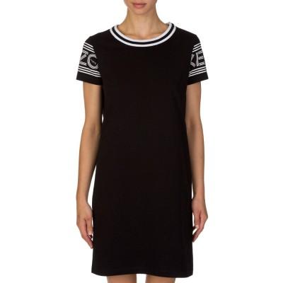 Kenzo Black Arm Logo T-Shirt Dress