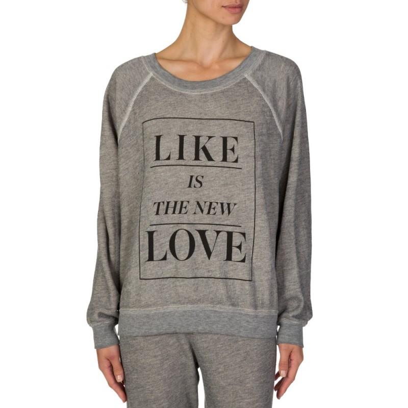 Wildfox Grey Like Love Sweatshirt
