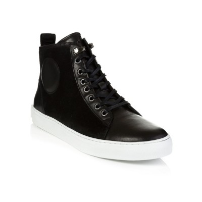 McQ Black Suede High Top Trainers