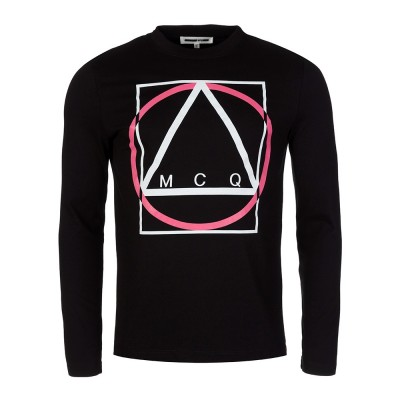 McQ Black Triange Print T-Shirt