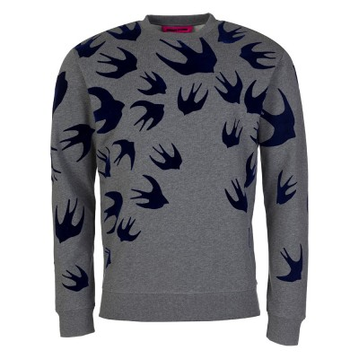 McQ Grey Swallow Sweatshirt
