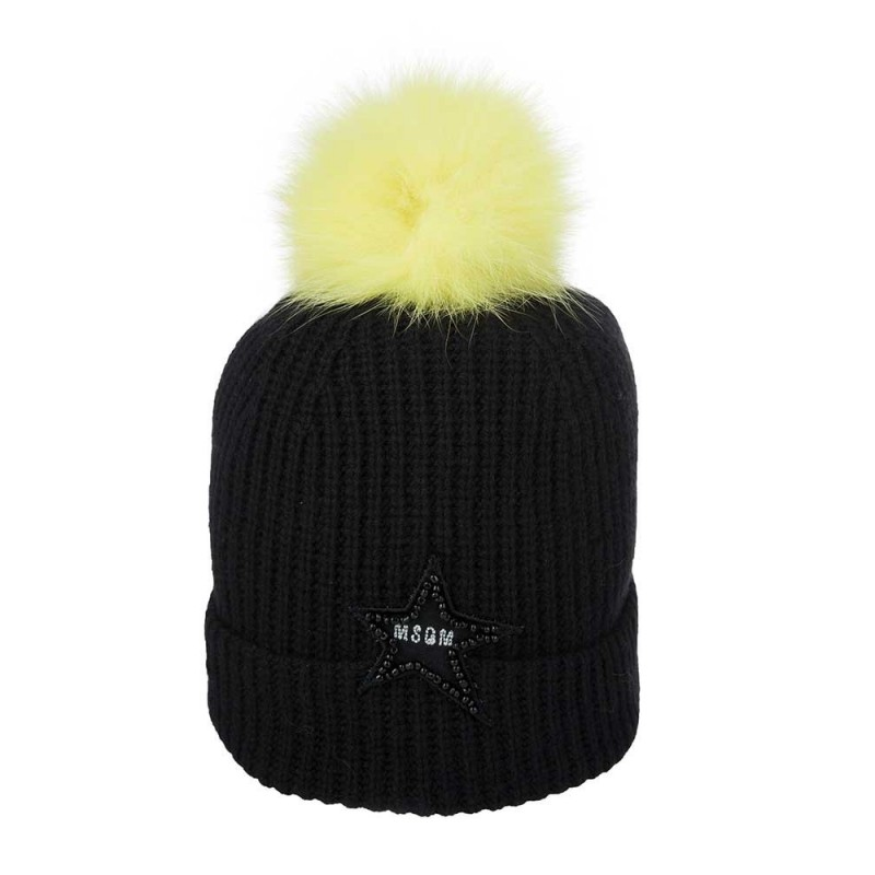 MSGM Black Bobble Hat