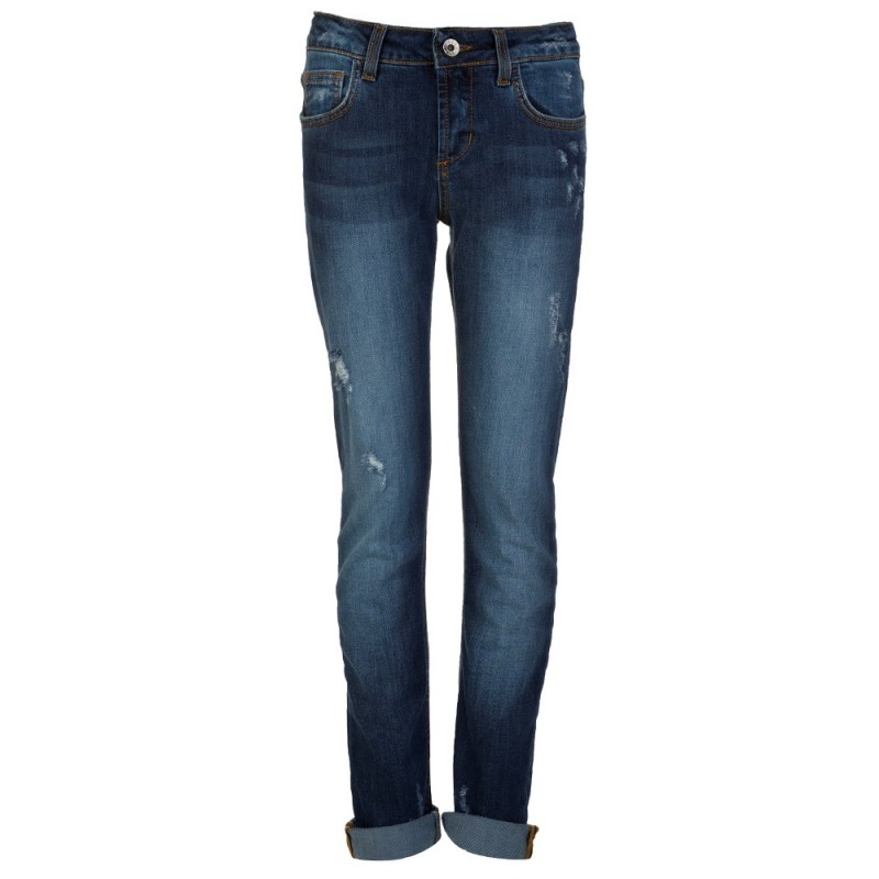 MSGM Blue Distressed Slim Fit Jeans