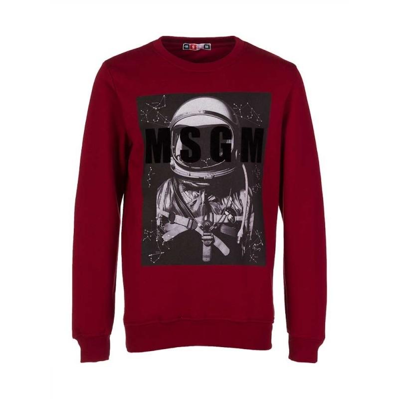 MSGM Burgundy Astronaut Sweatshirt