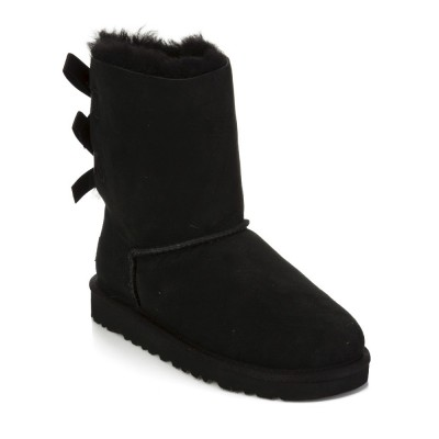 UGG Junior Black Bailey Bow Boot