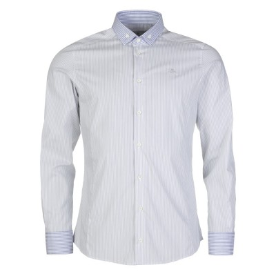 Vivienne Westwood Blue Button Down Collar Stripe Shirt