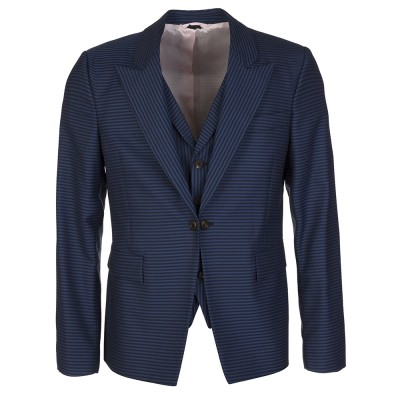 Vivienne Westwood Blue Striped Waistcoat Blazer