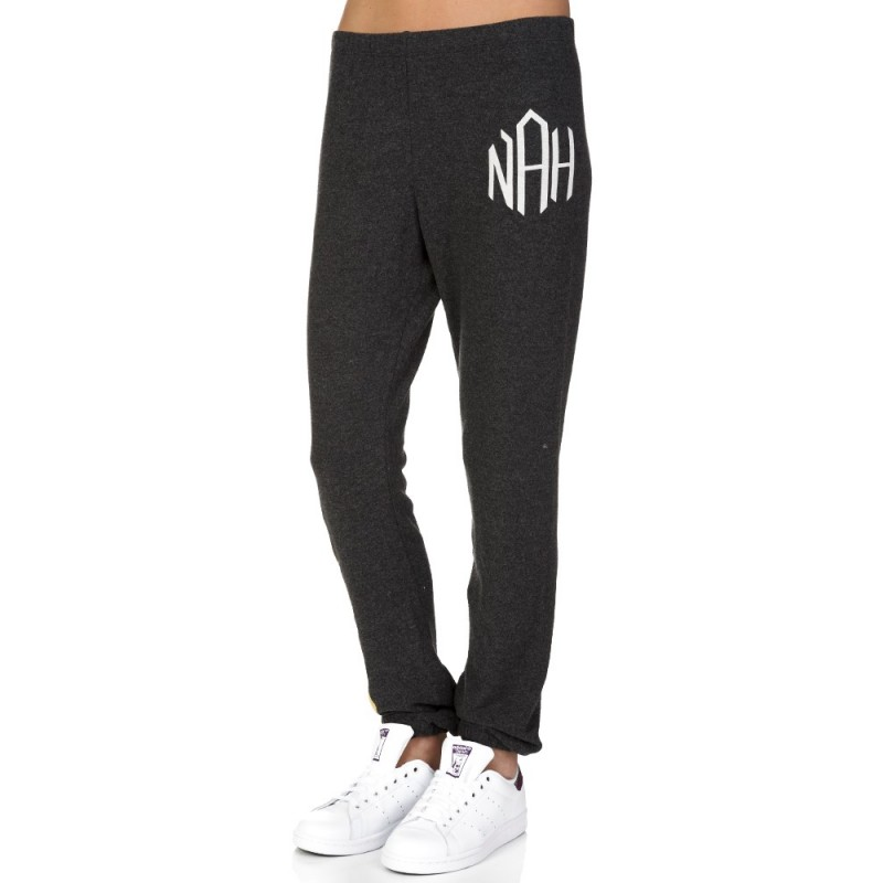 Wildfox Charcoal Striped Sweatpants