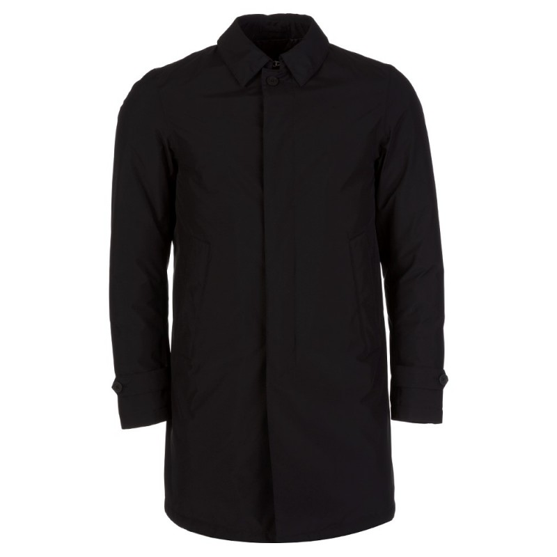 HERNO LAMINAR BLACK QUILTED GORE-TEX MAC