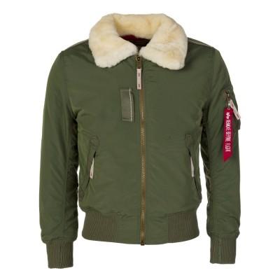 Alpha Industries Safe Fur Collar Bomber Jacket
