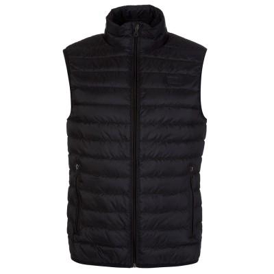 Armani Jeans Black Puffa Gilet