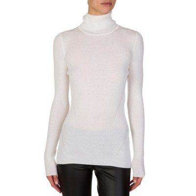 Diane Von Furstenberg Cream Roll Neck Jumper